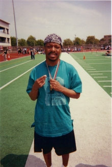 My brother Stephen at the Special Olympics in Queens