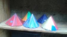 Colorful Merry Pyramid Cones