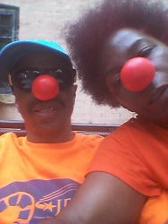 Red Nose Siblings Clowning Around