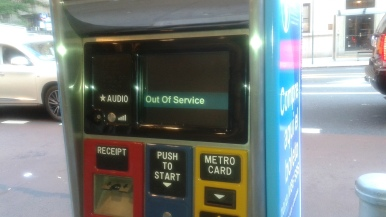 MTA Select Ticket Machines Out of Service/Out of Order