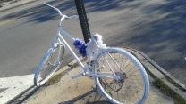 Sad White Bike Memorial