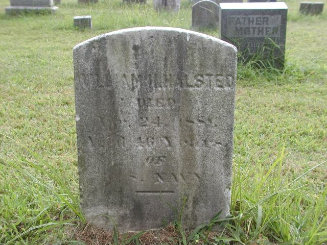 William Henry Halstead Tombstone