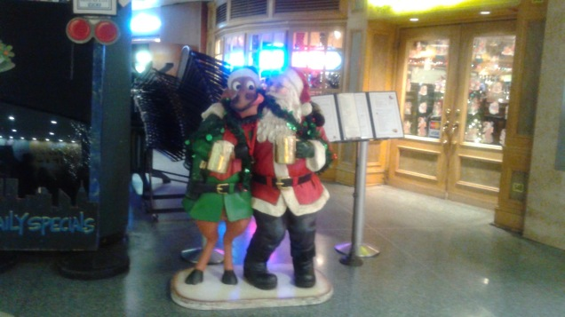 Two Tipsy Friends at Penn Station