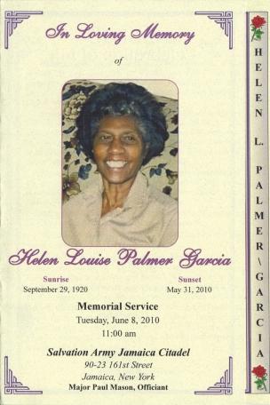 Paternal Aunt Helen Palmer Garcia