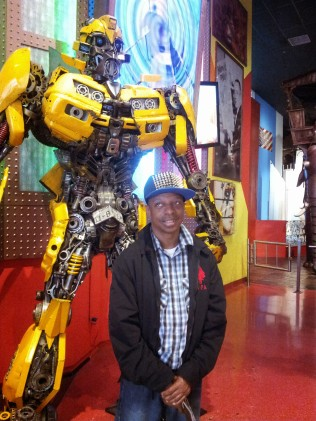 Stephen Posing with Bumblebee in front of Ripley's Believe it or Not