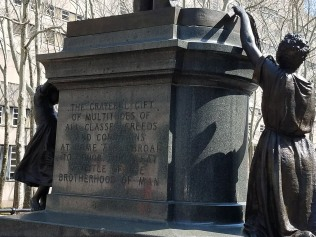 Back of Henry Ward Beecher statue